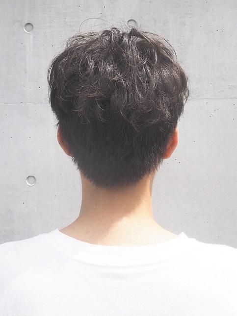 MEN`S ショート ナチュラルエアリーパーマスタイル-バック