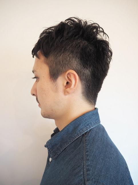 MEN`Sベリーショート コンパクトスタイル-バック